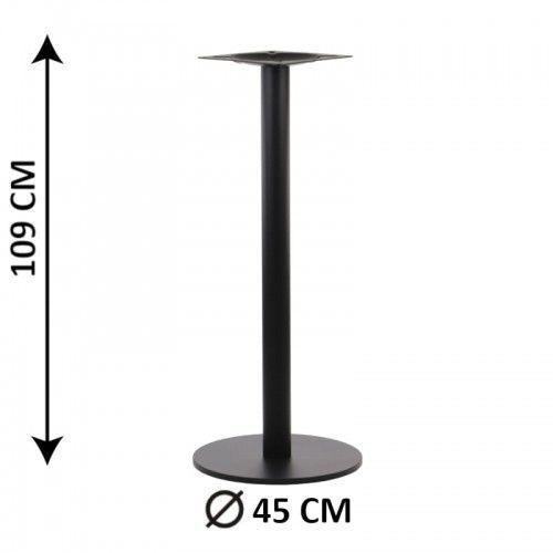 Stema - sh Podstawa stolika sh-2010-2/h/b, fi 45 cm, wys. 109 cm (stelaż stolika), kolor czarny (5903917402880)