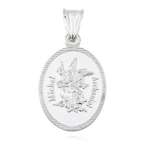 Srebrny medalik diamentowany Michał Archanioł, M205