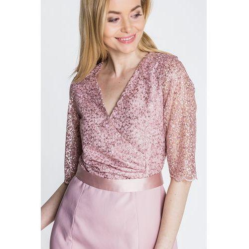 Sukienka koronkowa w kolorze brudnego różu - GaPa Fashion