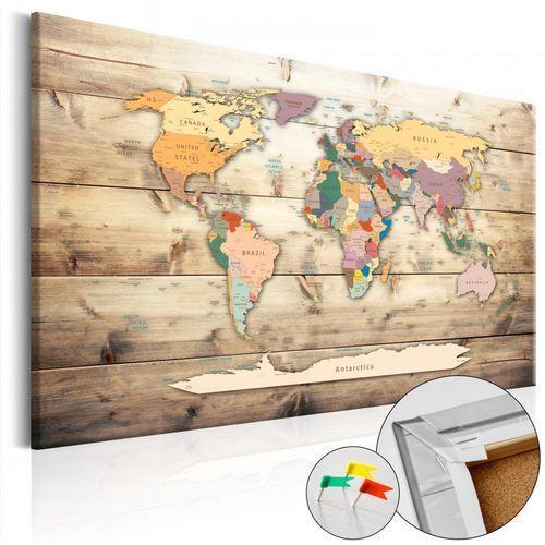 Obraz na korku - świat na wyciągnięcie ręki [mapa korkowa] marki Artgeist
