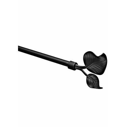 Bonprix Karnisz drążkowy z końcówką w kształcie liścia czarny