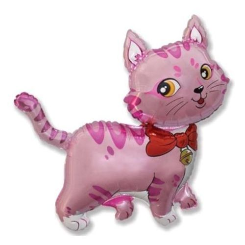 Twojestroje.pl Balon foliowy kotek różowy 14'' 1szt (5901238663959)