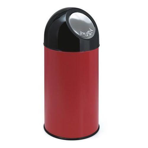 Pojemnik na odpady push, blacha stalowa, poj. 40 l, pojemnik wewn ocynkowany, cz marki Vepa bins
