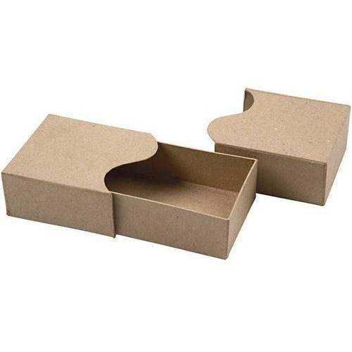 Tekturowe pudełko z ozdobną falą 21x10x5 cm marki Creativ