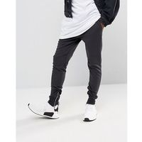 Sixth June Skinny Joggers In Black With Zip Ankle - Black, kolor czarny