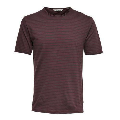 Only & sons T-shirt w paski z okrągłym dekoltem