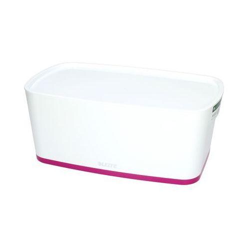 Pojemnik mały z pokrywką biało/różowy mybox leitz marki Esselte