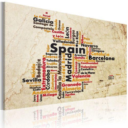 Obraz - mapa: hiszpańskie miasta marki Artgeist
