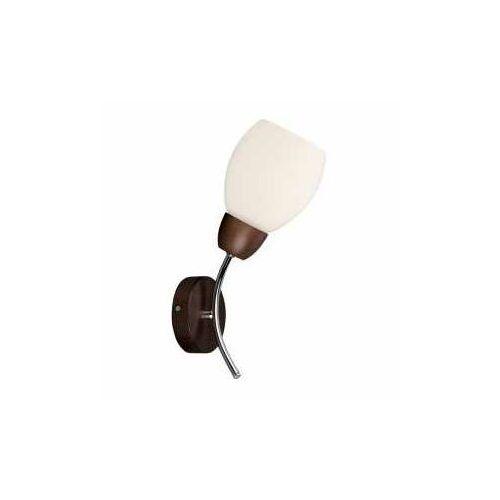 parma wood 8320176 kinkiet lampa ścienna 1x60w e27 brązowy/biały marki Spot light