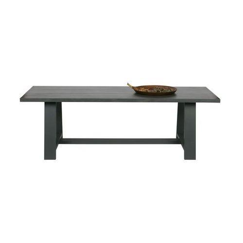 Woood Dębowy stół do jadalni 230x90cm szary - Woood 387661-G, 387661-G