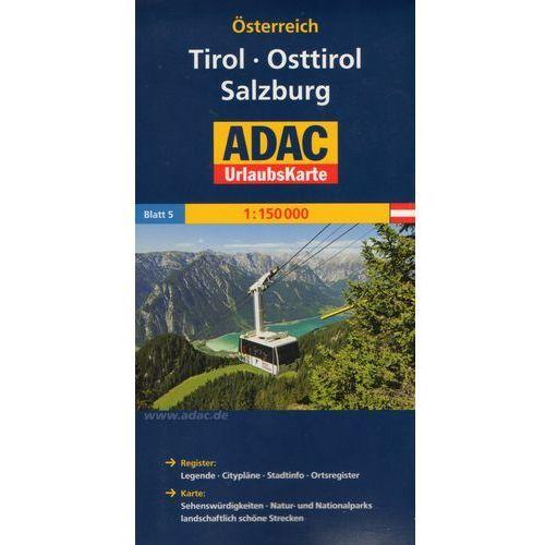 Osterreich. Tirol. Osttirol. Salzburg. ADAC LanderKarte 1:150 000, praca zbiorowa