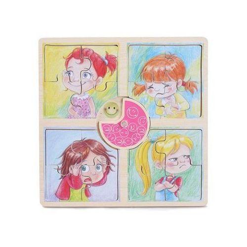 Playme Puzzle emocje dziewczynka 4x4