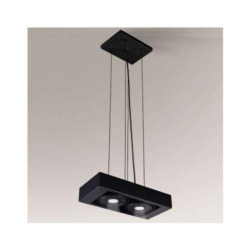 Lampa wisząca koga il 5615/led/cz minimalistyczna oprawa prostokątna led 20w zwis czarny marki Shilo