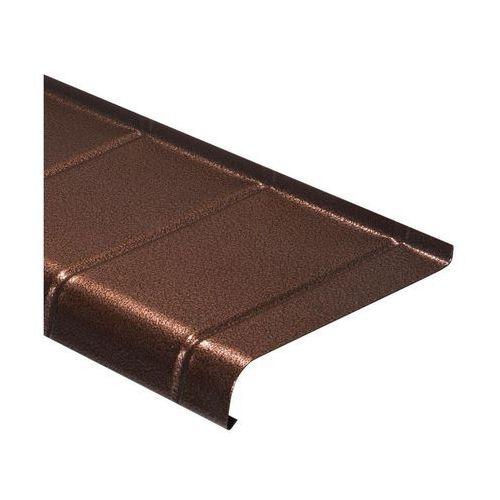 Parapet zewnętrzny STALOWY Miedź antyczna 25 x 150 cm DOMIDOR (5907479331305)