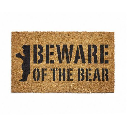 wycieraczka GRIZZLY - Beware Doormat Natural (NAT)