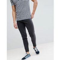 Farah Howells Super Slim Fit Jeans in Charcoal - Grey, kolor szary