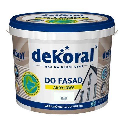 Farba fasadowa Dekoral Polinit ciapła biel 5 l (5904000028451)