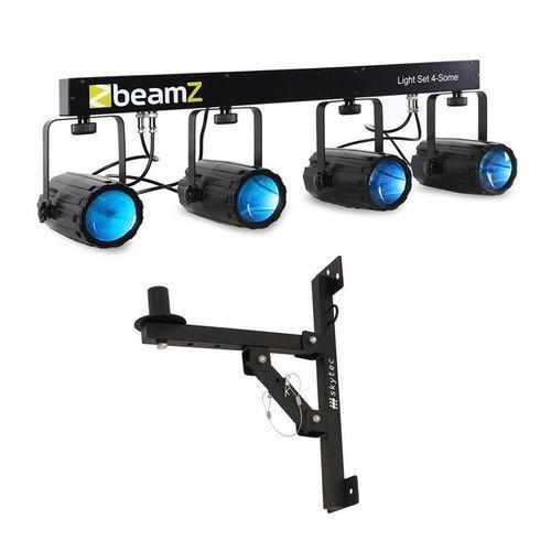Elektronik-star Zestaw efektów świetlnych led beamz light set 4-some 5-częściowy z uchwytem ściennym
