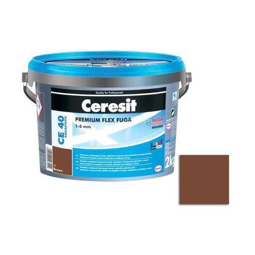 Fuga cementowa WODOODPORNA CE40 brązowy 2 kg CERESIT, CT_FUCE40_BROW2_2