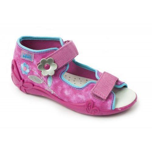 BEFADO Sandałki dziecięce - dziewczęce, różowe, bawełniane, oddychające, 242P067