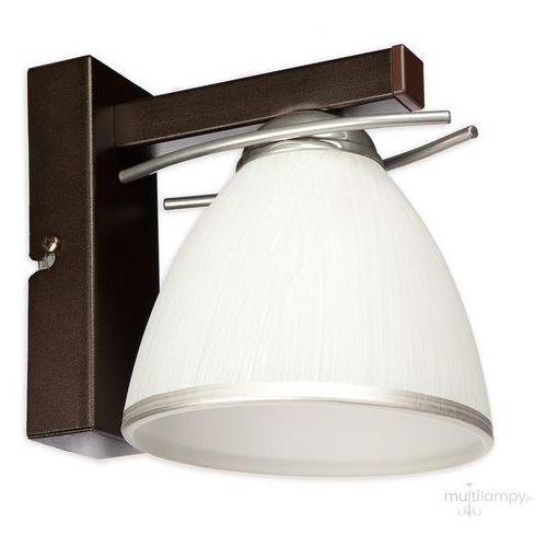 Lemir Mario O2150 K1 CRW kinkiet lampa ścienna 1x60W E27 rdza wenge / chrom (5902082868682)