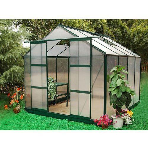 Szklarnia ogrodowa z poliwęglanu o pow. 7,5 m² greenea ii z podstawą marki Vente-unique