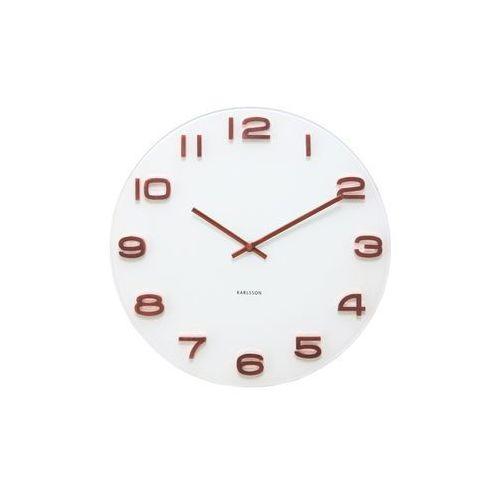:: zegar ścienny vintage white cooper numbers round marki Karlsson