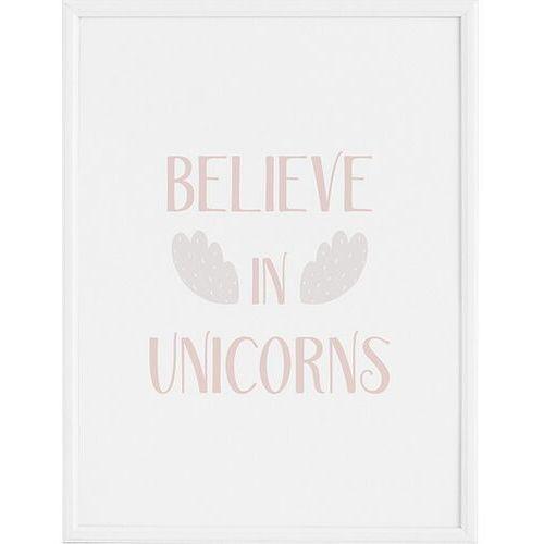 Plakat Believe in Unicorns 21 x 30 cm