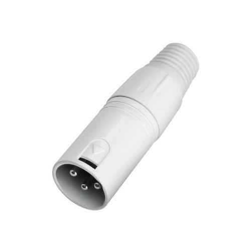 Adam Hall Connectors 7932 - 3-stykowa wtyczka głośnikowa XLR, męska, biała