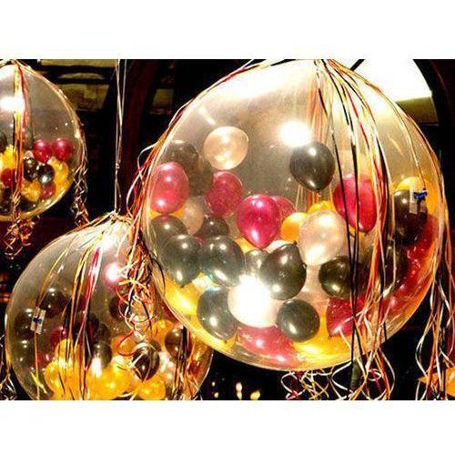 Party deco Balon strzelający olbrzym pastel, 100 balonów, pompka i dodatki