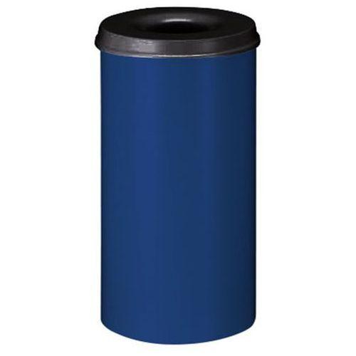 Vepa bins Bezpieczny kosz na papier, poj. 50 l, wys. 625 mm, kobaltowo-niebieski. korpus z