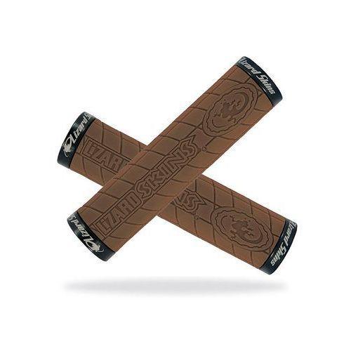 Lizard skins Lzs-lolds600 chwyty kierownicy logo lock on 30,5x130 mm brązowe klamry czarne