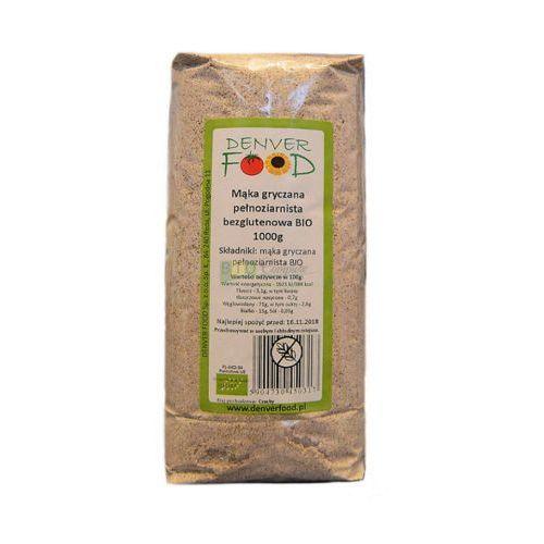 Mąka Gryczana Pełnoziarnista Bezglutenowa BIO 1 kg Denver Food (5904730450317)