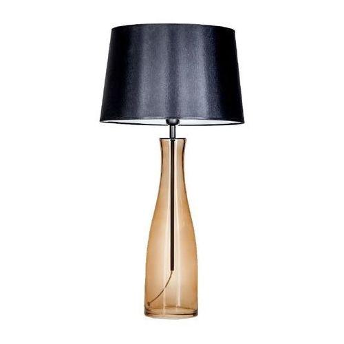 Lampa stołowa amsterdam taupe z czarnym/białym kloszem, l211175247 marki 4 concepts