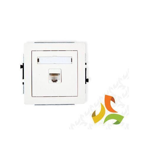 Gniazdo komputerowe 1xRJ45, kat. 6 DGK-3, biały KARLIK DECO