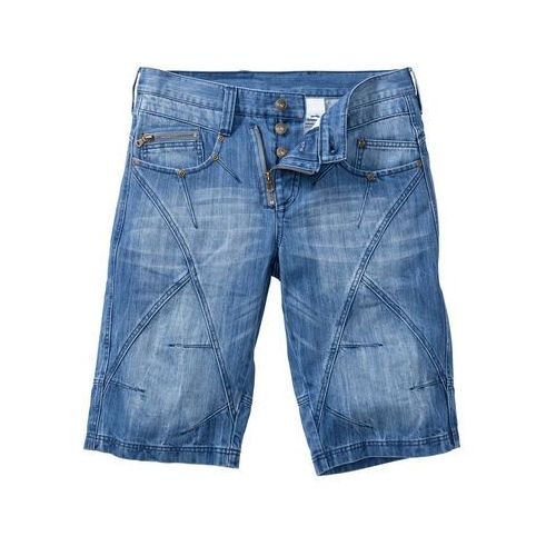 """Bermudy dżinsowe regular fit niebieski """"medium bleached used, Bonprix"""