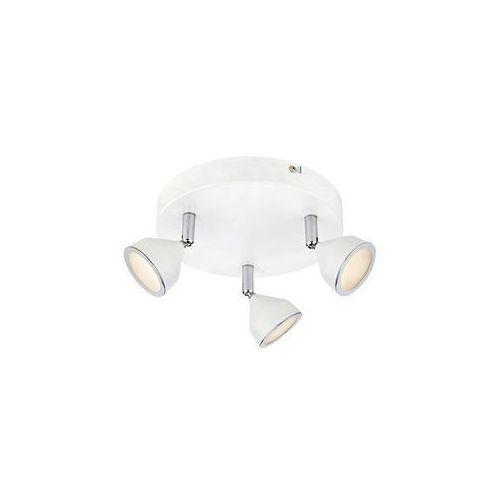 Markslojd Lampa sufitowa bell 106193 okrągła oprawa metalowa led 9w plafon regulowane reflektorki chrom białe