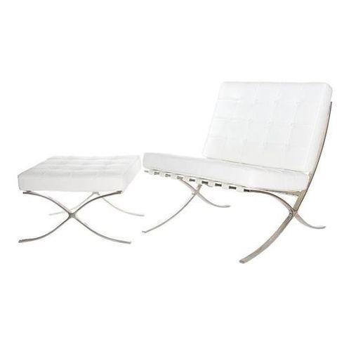 Fotel BA1 Premium Inspirowany Barcelona - biały (5902385702980)