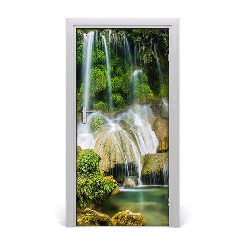 Naklejka na drzwi samoprzylepna Wodospad w dżungli