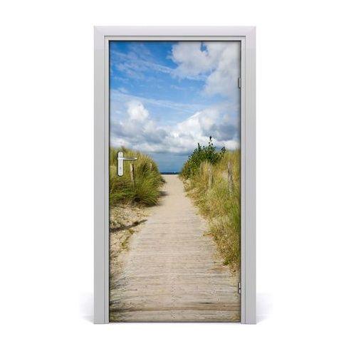Naklejka na drzwi samoprzylepna Ścieżka na plażę
