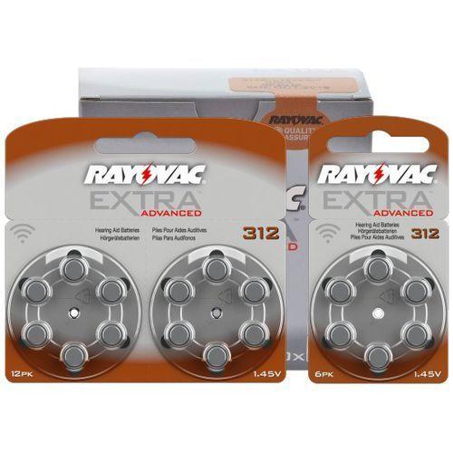 132 x baterie do aparatów słuchowych Rayovac Extra Advanced 312 MF