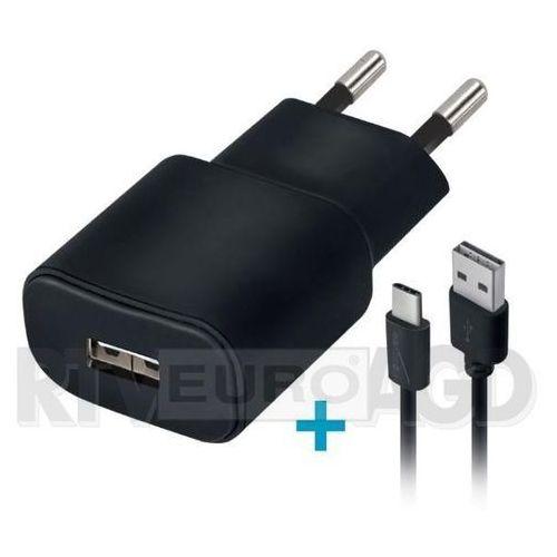 Ładowarka sieciowa Forever USB 1A TC-01 + kabel type-C czarna, 8_2211825