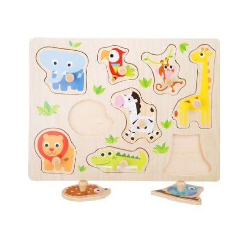 small foot® Drewniane puzzle Zwierzątka z zoo, 9 części (4020972047632)