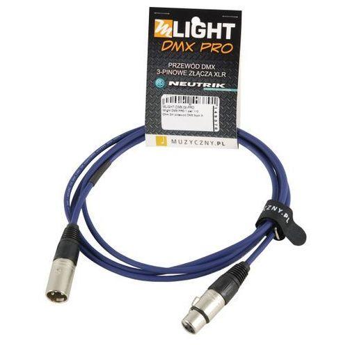 dmx pro 1 pair 110 ohm 2m przewód dmx 3-pin xlr xlr neutrik marki Mlight