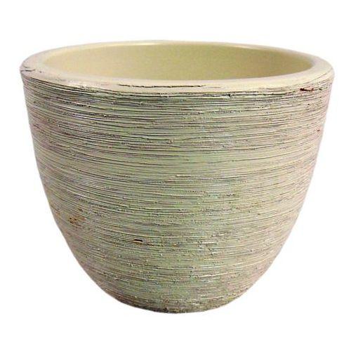 Osłonka doniczki Cermax 30233 biały antyk