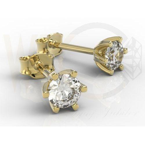 Węc - twój jubiler Kolczyki z żółtego złota z diamentami 0,54 ct wzór lpk-8054z
