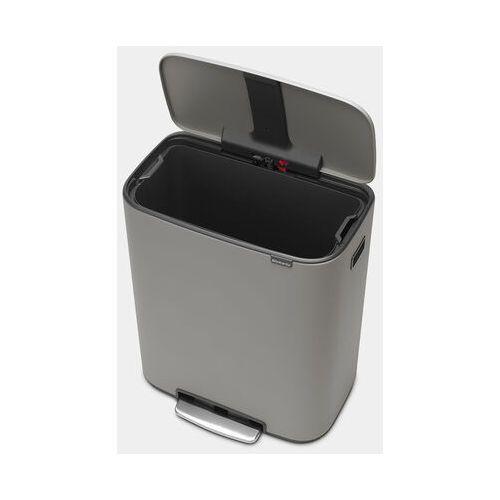 Kosz pedałowy BO 60 l, 1 komora, mineralny betonowy szary - Brabantia, 211348