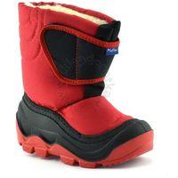 Śniegowce dla dzieci marki Renbut / Muflon 22-388 - Czerwony ||Czarny