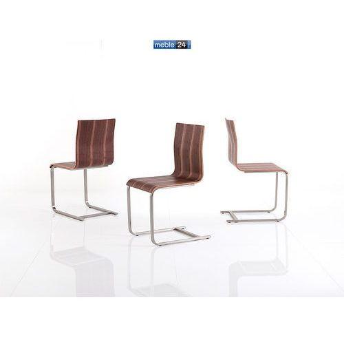 Krzesło chrom orzech eko FLORA MIX Ostatnie 2 szt.