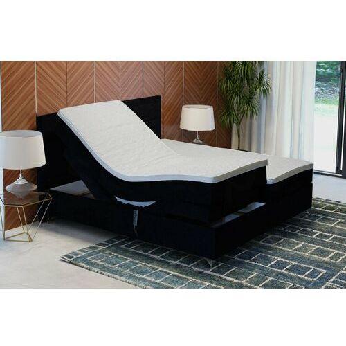 """Łóżko kontynentalne """"DREAM"""" z funkcją elektryczną - czarny, kolor czarny"""
